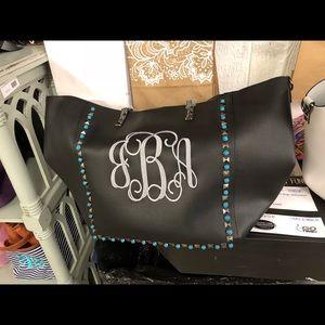 Black guitar strap handbag